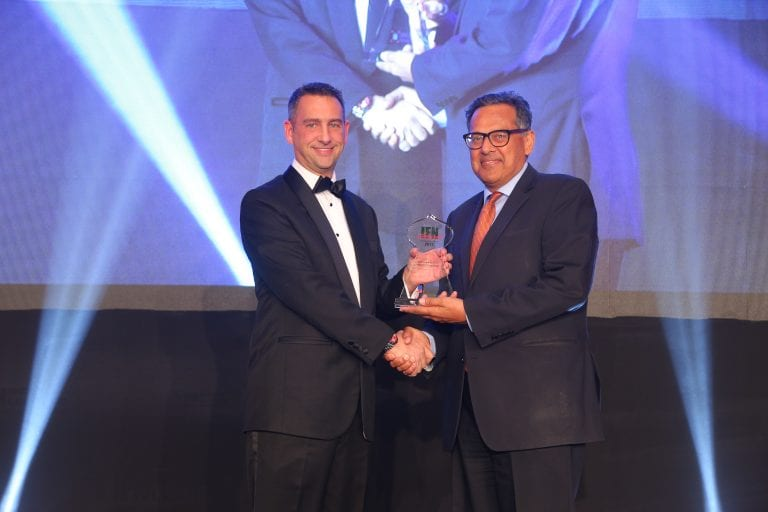 "DDCAP Group accepts the award for ""Best Interbroker 2017"" at the IFN Awards Dinner"