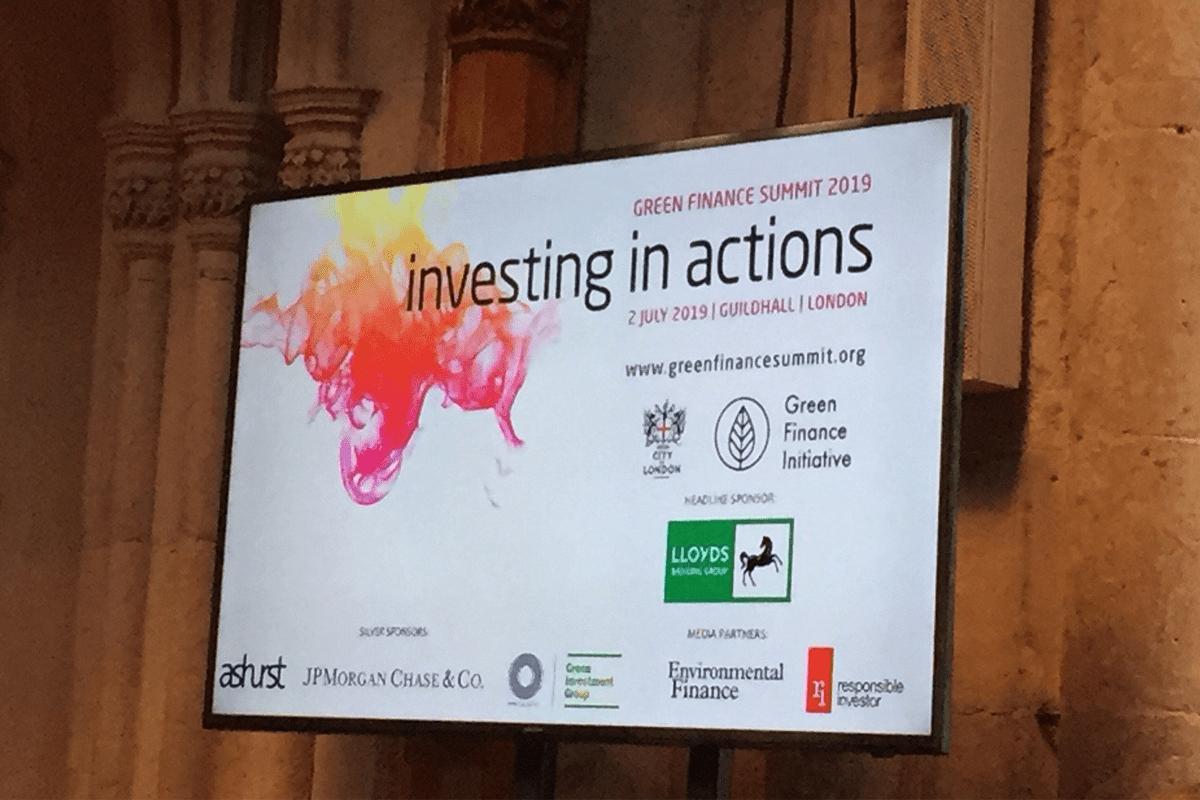 Green Finance Summit 2019 – 2nd July 2019